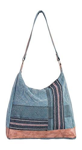 Mona B Sky Charcoal Shoulder Handbag M-3710