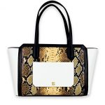 Ivanka Trump Women's Soho Snake Skin Print Shoulder Handbag with Battery Charging Pack