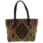 Lucky Brand Womens Maya Pattern Faux Leather Trim Tote Handbag