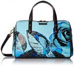 Vera Bradley Marlo Satchel, Blue Havana Rose