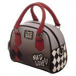DC Comics Harley Quinn Mad Love Deluxe Mini Bowler Handbag Purse Satchel