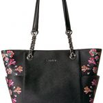 Calvin Klein Key Item Floral Printed Saffiano Chain Tote