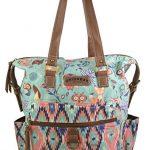 Unionbay Women's / Girls Hobo Handbag Top Handle Tote Convertible Backpack w/ Owl Fox Print on Canvas