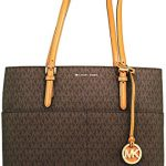 Michael Kors Women's Large Bedford Pocket Signature Tote Leather Shoulder Bag