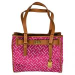 Tommy Hilfiger Womens Top Handle Pink Shopper Bag