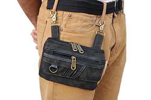 Bikers Jeans Loop Hang Denim Canvas Purse I phone 6 7 Case Cross Body Bag