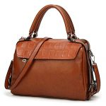 DALFR PU Vegan Leather Top Handle Tan Tote Purse Bag For Women Oversize Designer Handbag