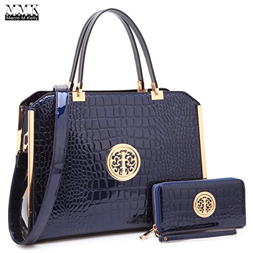 Women Handbags & Purse Ladies Designer Satchel Handbag Tote Purse Shoulder Bags~1988 Women Classic Satchel handbag in spring colors Perfect Briefcase purse & wallet set for women