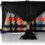 MILLY Pied De Poule Tweed Collection Clutch