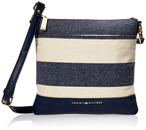 Tommy Hilfiger Crossbody Bag for Women Maisie, Navy/Natural