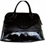 Womens Tommy Hilfiger Handbags Satchel- Black