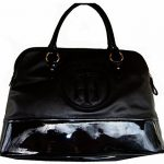 Womens Tommy Hilfiger Handbags Satchel- Black