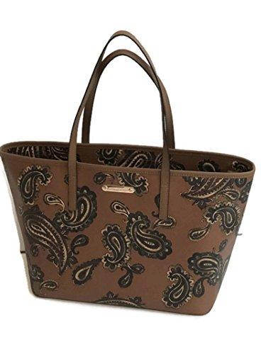 0c09dc0a1 Michael Kors Emry Luggage Cocoa Browns Paisley Saffiano Leather Large Tote  Handbag Shoulder Bag