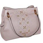 MICHAEL Michael Kors Women's LEIGHTON Studded Large Leather Handbag Shoulder Tote (Blossom)
