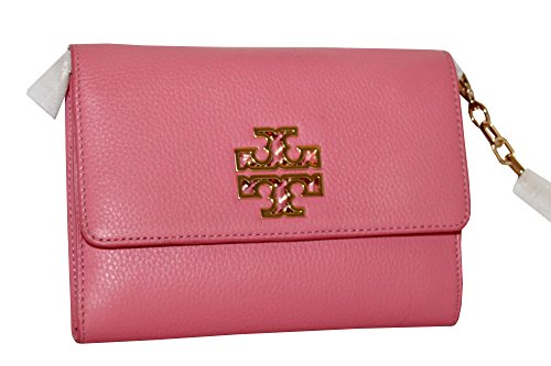 Tory Burch Britten Chain Wallet Women's Small Leather Handbag Cosmo