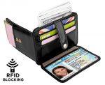 YALUXE Mens RFID Blocking Leather Slim Wallet Credit Card Security Holder