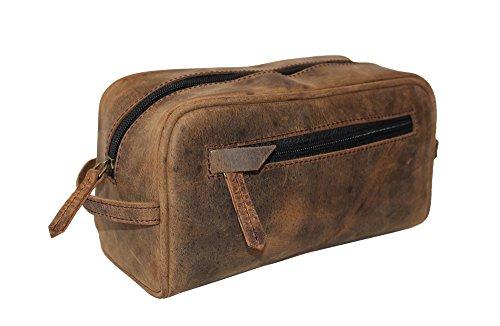 LUST Genuine Leather, Unisex bag, Toiletry Bag, Travel Dopp Kit, Mens Shaving bag, vanity case