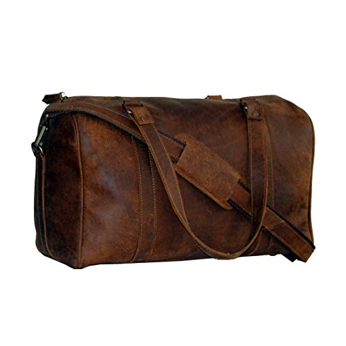 LUST Crazy Horse Leather Travel Duffel Bag Boarding Luggage Carry On for Men Women