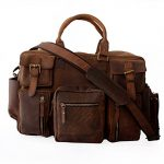 LUST Crazy Horse Leather Travel Shoulder bag, briefcase, travel laptop bag, multipocket messenger bag for men and women