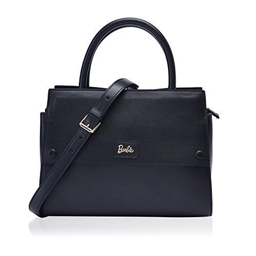 Barbie Retro Fashion Travel Commuter Split Patent Leather Pure Color Pattern Handbag&Cross-body Bag Shoulder Bag #BBFB104