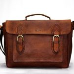15 Inch Vintage Handmade Leather Messenger Bag for Laptop Briefcase Best Computer Satchel School distressed Bag for men for women