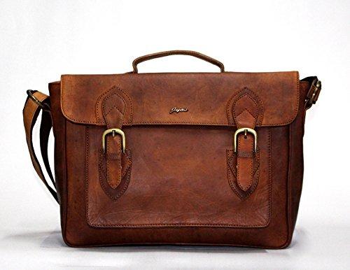 15 Inch Vintage Handmade Leather Messenger Bag for Laptop Briefcase Best Computer Satchel School distressed Bag for men for women