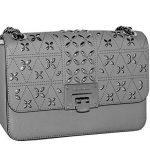MICHAEL Michael Kors Women's TINA Medium Shoulder Flap Leather Evening Studded Handbag (Pearl Grey)