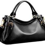 S-ZONE Women's Vintage Genuine Leather Handbag Top-handle Purse Hobo Shoulder Bag