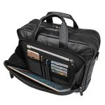 Texbo Men's Full Grain Napa Leather Briefcase Shoulder Bag, Fit 17 Inch Laptop