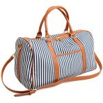 BAOSHA HB-25 Ladies Women Canvas Overnigt Weekender Bag Travel Duffel Tote Bag Weekend Overnight Travel Bag Handbags