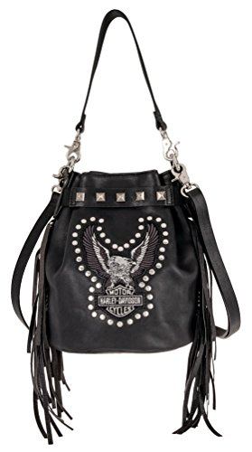 Harley-Davidson Women's Highway Child Crossbody Leather Purse HDWBA11162-BLK