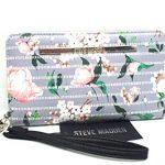 Steve Madden BZippr Zip-Around Wallet/Wristlet - Grey Floral