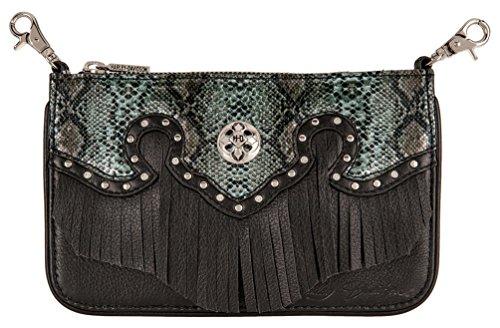 Harley-Davidson Women's Snake Charmer Leather Hip Bag w/Strap HDWBA11284-BLK