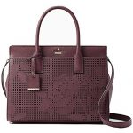 Kate Spade New York Cameron Street Perforated Candace Satchel PXRU7723 Deep Plum