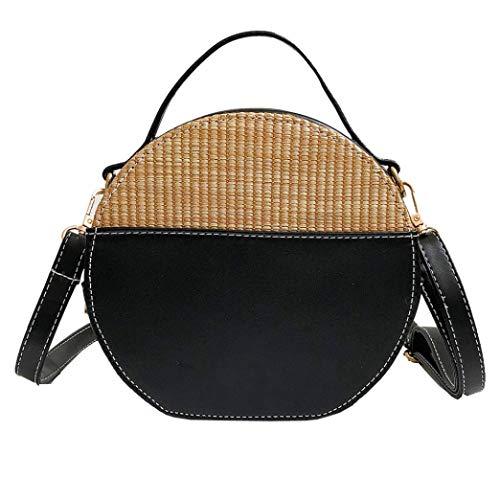 Crossbody Bags for Women,iOPQO Vintage Ladies Simple Round Tote Bag Shoulder Bag