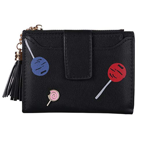 Wallets for Women,iOPQO Ladies Simple Retro Zipper Short Wallet Coin Handbag