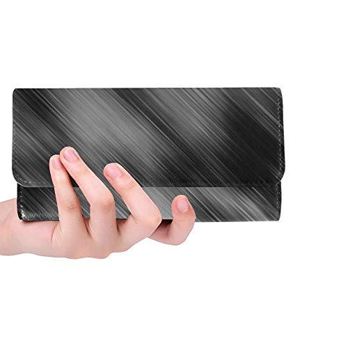 Unique Custom Texture Grunge Paper Vintage Abstract Women Trifold Wallet Long Purse Credit Card Holder Case Handbag
