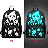 Outsta Unisex Student Backpack, Light Teenagers Noctilucent Cartoon School Bags Lightweight Classic Basic Water Resistant Backpack with Bottle Side Pockets