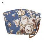 YuYe Women Flower Animal Cat Storage Cash Purse Card Holder Clutch Bag Phone Handbag - Blue