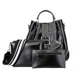 Crossbody Bag, Dream Room Women 3Pcs Retro Leather Handbag+Crossbody Bag+Wallet