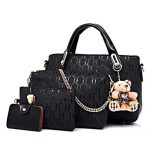 4Pcs Fashion Women Messenger Bags Handbags Pu Leather Female Shoulder Bag