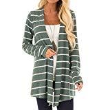 URIBAKE ❤ Women's Cardigan Autumn Winter Long Sleeve Striped Ladies' Casual Long Lose Coat Bllouse T-Shirt Tank Tops