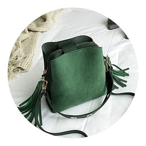 Brand Tassel Shoulder Bag Female Vintage Crossbody Bags For Women Bucket Bag Handbags Designer Scrub Daily Sac
