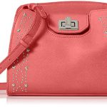 Calvin Klein Clementine Mercury Leather and Celestial Stud Embellished Crossbody