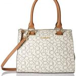Calvin Klein Halle Monogram Top Zip Key Item Satchel