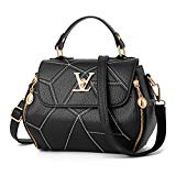 Dunland Leather Women Handbags Simple Stitching Square Wallet Stylish Satchel Tote