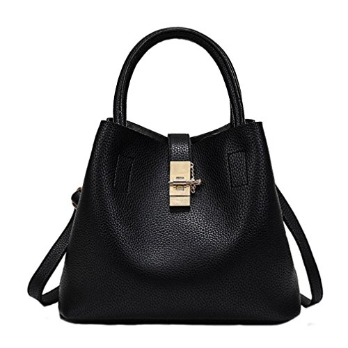Hot Soft Leather Women Bag Leather European Shoulder Handbag Bucket Bag by VESNIBA