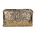 Fashion Korean Style Wholesale Luxury Sequin Dazzling Glitter Bag Women Clutch Handbag Evening bag (Gold)