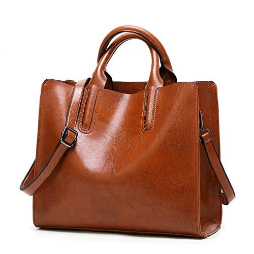 Women Oil Wax Leather Shoulder Bags Vintage Handbags Female Big Tote Bag Women's Messenger Bags 2018