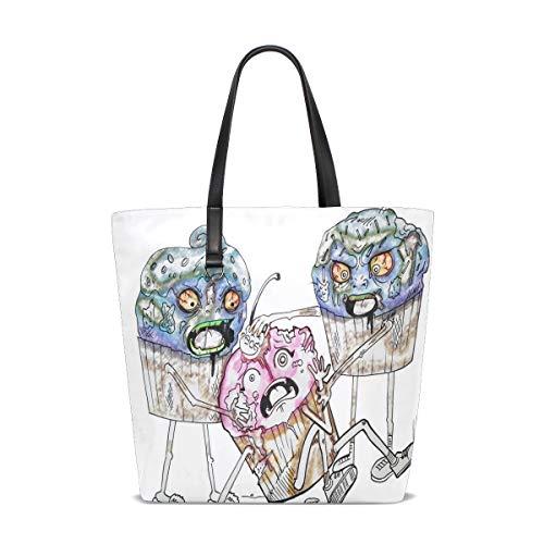 Cool Cupcake Drawings Tote Bag Purse Handbag Womens Gym Yoga Bags for Girls